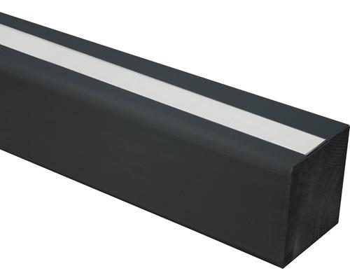 Pfosten 9 x 9 x 100 cm glatt Aluprofil schwarz