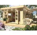 Gartenhaus Karibu She Shed River House 4 mit Fußboden 369 x 309 cm natur