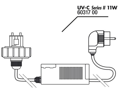 Gehäusedeckel und Vorschaltgerät JBL AquaCristal 11 W