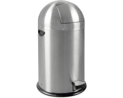 Treteimer 33 Liter matt edelstahl