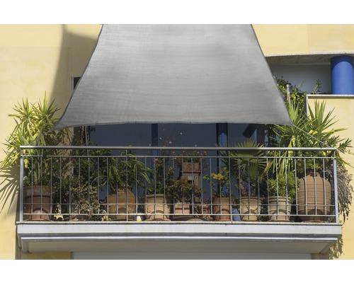 Balkon-Sonnensegel Rechteck grau 140x270 cm
