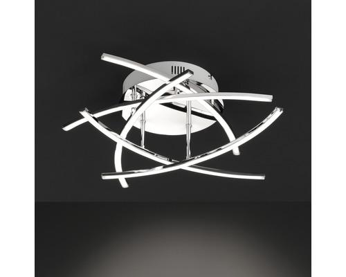 LED Deckenleuchte dimmbar 5x4W 5x590 lm 3000 K warmweiß Ø 500 mm Cross chrom