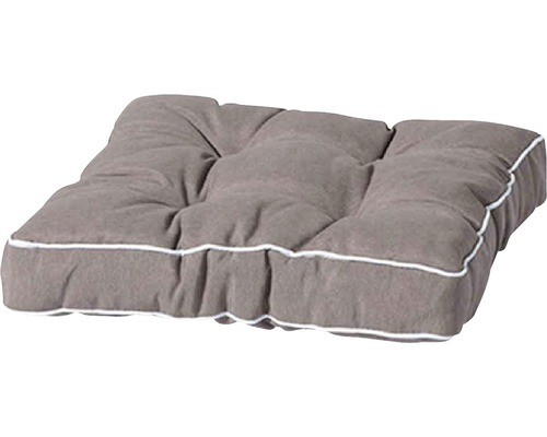 Sitzkissen Madison Panama Baumwolle 47x47cm grau-beige