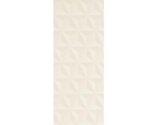 Keramik Dekorfliese Satin Crema Facettes 20 x 50,2 cm