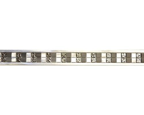 Aluminiumbordüre ABO S01 silber 5,5x60 cm