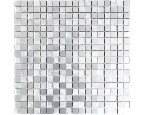 Aluminiummosaik ALF A309F mix silber 30x30 cm