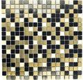 Aluminiummosaik ALF A401 mix schwarz/gold 30x30 cm