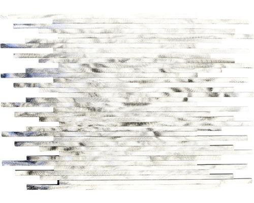 Aluminiummosaik ALF L101F silber 27,2x39 cm