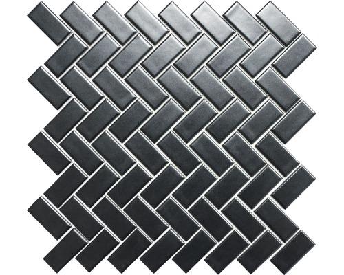 Keramikmosaik CHB 06BM schwarz 30x30 cm