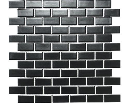 Keramikmosaik CBR 04BM schwarz 30x30 cm