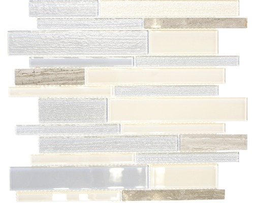 Glasmosaik CM GV24 mix beigegrau 28,6x30 cm
