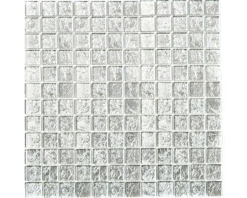 Glasmosaik CM 4SB11 silber 30x30 cm