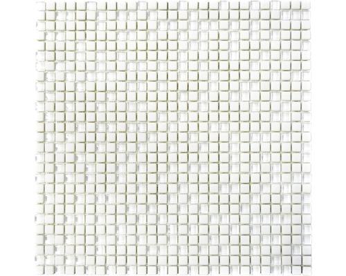 Glasmosaik CUBA 07W WEIß 30,5x30,5 cm