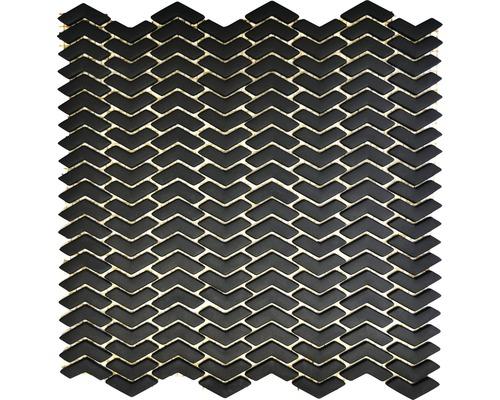 Glasmosaik CUBA HB31B schwarz 29x29,5 cm
