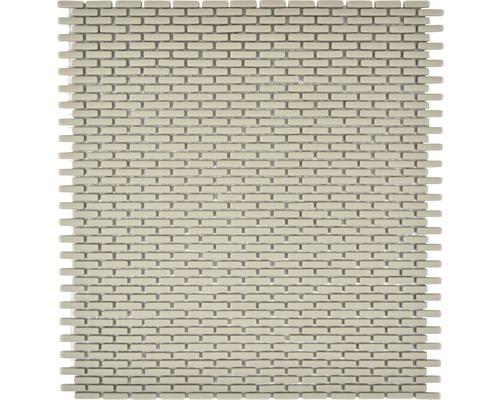 Glasmosaik CUBA B23C creme 27,5x29,7 cm