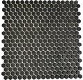 Glasmosaik CUBA HX11B SCHWARZ 29x29,5 cm