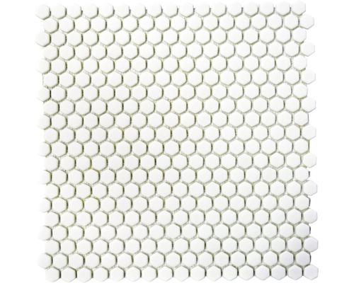 Glasmosaik CUBA HX17W weiß 29x29,5 cm