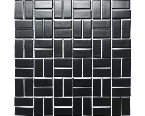 Keramikmosaik CWM 08BM schwarz 30x30 cm