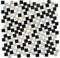 Glasmosaik GM K05 grau schwarz 31,8x31,8 cm