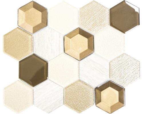 Glasmosaik HXN 77 MIX beige 26,5x30,5 cm