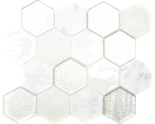 Glasmosaik HXN 88 mix grau silber 26,5x30,5 cm