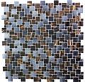 Glasmosaik GM K07 braun/blaugrau 31,8x31,8 cm