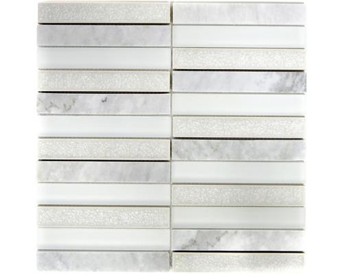 Glasmosaik ICE 150 mix weiß 29,8x29,8 cm