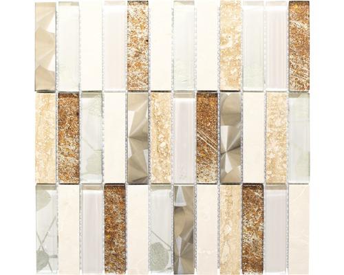 Glasmosaik DAY 52X mix beige 29,8x29,8 cm