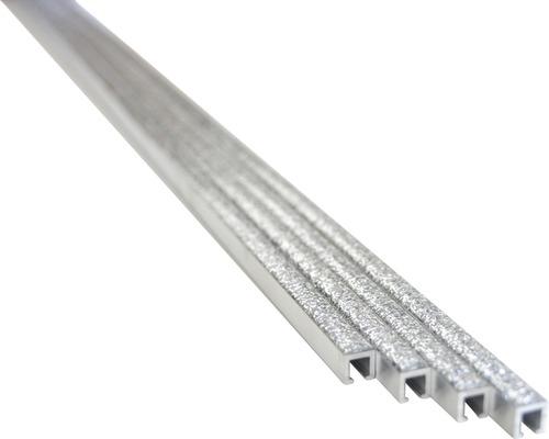 Aluminiummosaik PP AG208 silber 4er Pack 0,75x60 cm