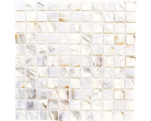 Muschelmosaik SM 2525 weiß 30x30 cm