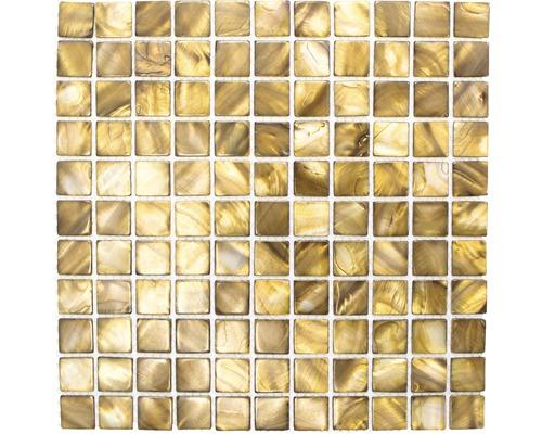 Muschelmosaik SM 2569 braun 30x30 cm