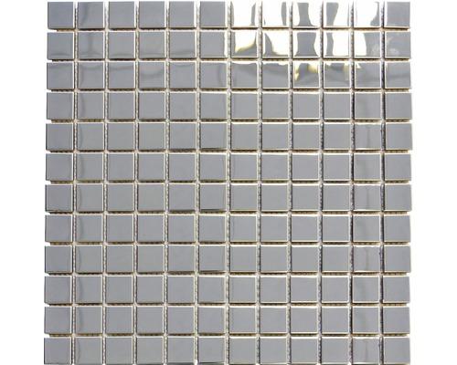 Edelstahlmosaik XCE 23G silber 29,8x29,8 cm
