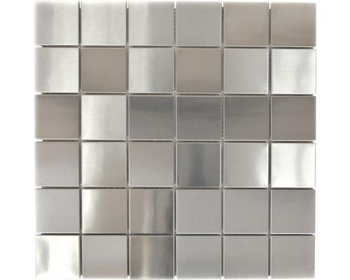 Edelstahlmosaik XCE 48D silber 29,8x29,8 cm