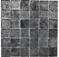 Glasmosaik XCM 8BL27 schwarz 30x30 cm