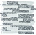 Glasmosaik XCM 8CFL weiß/grau 30,5x30,5 cm