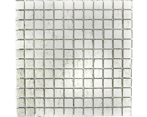 Glasmosaik XCM 8SB16 silber 30x30 cm