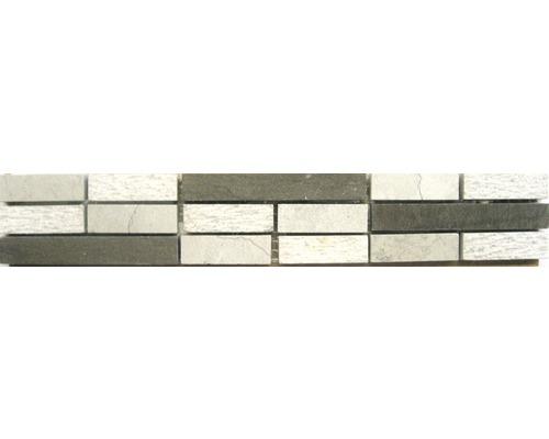 Natursteinbordüre Sticks grey 5,0x30,0 cm