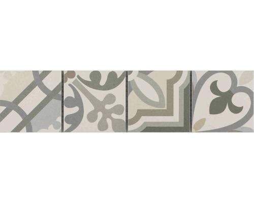 Keramikbordüre Patchwork grey 7,7x31,8 cm