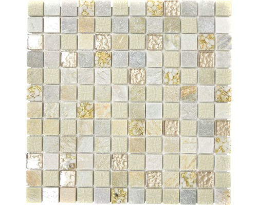 Glasmosaik XCM CR27 mix gold/beige 30x30 cm