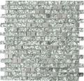 Glasmosaik XCM MV728 mix grüngrau 29,8x30,4 cm