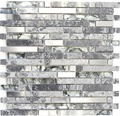 Glasmosaik XCM MV778 mix grau 30x30 cm