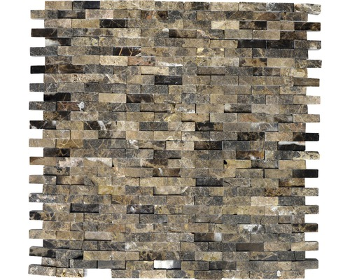 Natursteinmosaik XNC 3D76 Marmor braun 30,5x30,5 cm