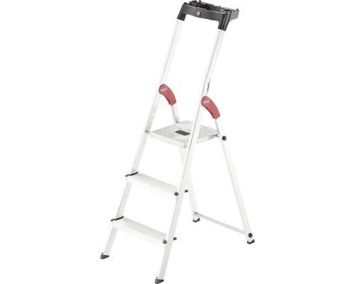Aluminium-Sicherheits-Haushaltsleiter Hailo L60 StandardLine 3 Stufen