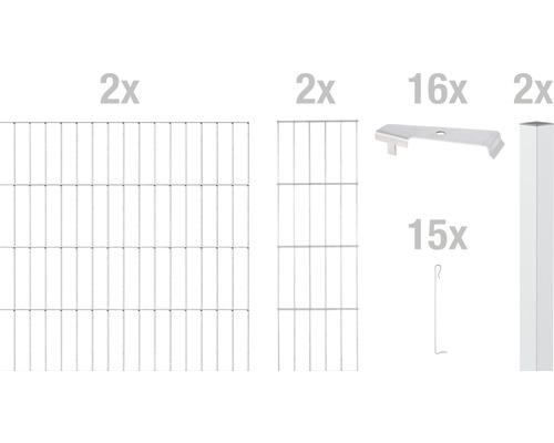 Zaungabione GAH Alberts Cluster Grundset 200x100 cm verzinkt