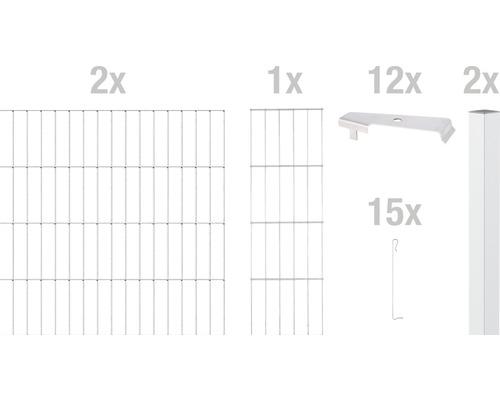 Zaungabione GAH Alberts Cluster Anbauset 200x80 cm verzinkt