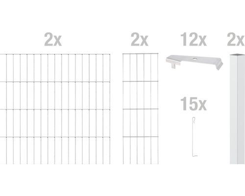 Zaungabione GAH Alberts Cluster Grundset 200x80 cm verzinkt