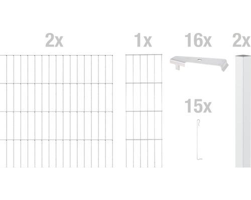 Zaungabione GAH Alberts Cluster Anbauset 200x100 cm verzinkt