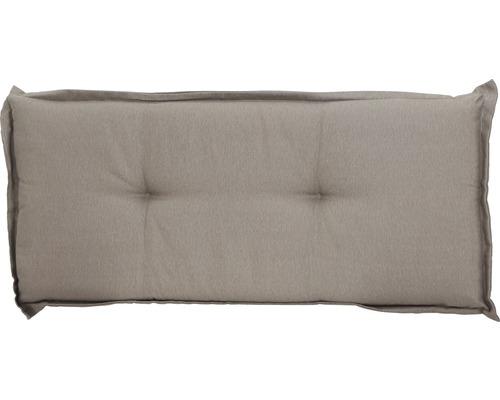 Bankauflage Madison Panama Baumwolle 110x48cm grau-beige