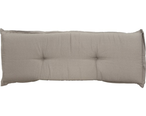 Bankauflage Madison Panama Baumwolle 140x48cm grau-beige