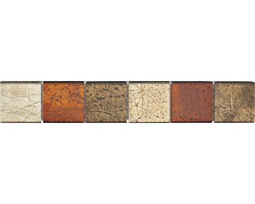 Glasbordüre 4,8x29,8 cm color mix